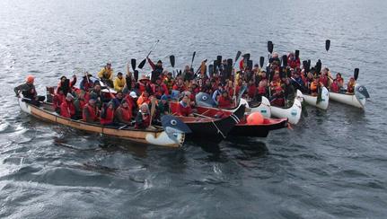 Salmon-are-Sacred-Frazer-River-canoes
